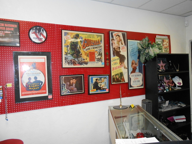 Items from Cinema Collectors Movie Memorabilia & Gift Shop, 11 S. Water St., Henderson, are shown Jan. 30. The store is slated to close in February and switch to selling online. (Michael Lyle/Las  ...