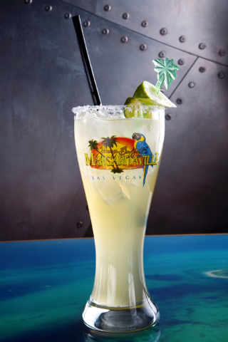 The Who's to Blame on the rocks margarita drink is shown at Jimmy Buffett's Margaritaville restaurant located in the Flamingo Las Vegas hotel-casino on Thursday, Feb. 13, 2014. (Jeferson Applegate ...