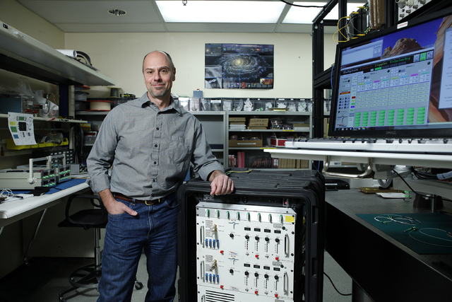 Ed Daykin is an experimental physicist with National Security Technologies. Photographed in his lab in North Las Vegas Friday, Feb 7, 2014. (John Locher/Las Vegas Review-Journal)