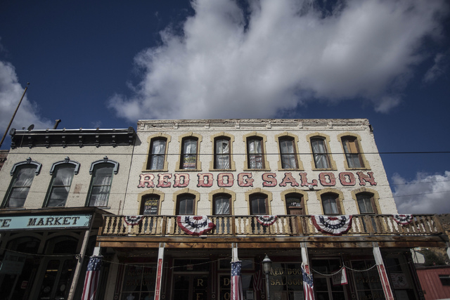The Red Dog Saloon on C Street  seen Wednesday, Sept. 25, 2013 in Virginia City, Nev. The county seat of Storey County, Nevada sprang up as a boomtown when silver was discovered on top of the Coms ...
