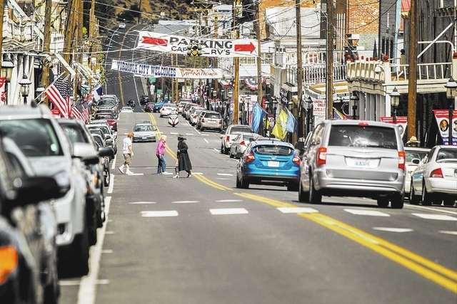 C Street as seen Wednesday, Sept. 25, 2013 in Virginia City, Nev. The county seat of Storey County, Nevada sprang up as a boomtown when silver was discovered on top of the Comstock Lode. The town  ...