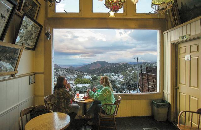 Two women  sit in the Bucket of Blood Saloon on C Street  in Virginia City, Nev. on Wednesday, Sept. 25, 2013.  The bar has been open since 1876.(Jeff Scheid/Las Vegas Review-Journal)