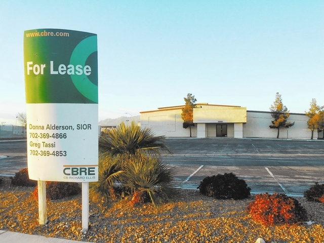 James DeHaven/View A vacant warehouse at 2900 E. Lone Mountain Road could become the future home of a controversial 191,000-square-foot waste gasification power plant approved by North Las Vegas p ...