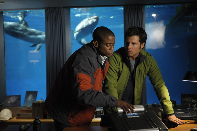 "James Roday and Dulé Hill star in ""Psych,"" a USA comedy about a hyper-observant consultant who pretends to be psychic while solving cases for the Santa Barbara Police Department. (Alan Zenuk/USA  ..."