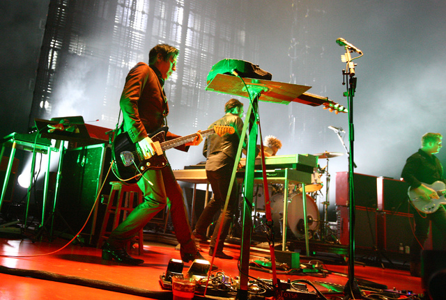 Queens of the Stone Age perform at The Joint at the Hard Rock Hotel in Las Vegas on Thursday, Feb. 13, 2014. (Chase Stevens/Las Vegas Review-Journal)