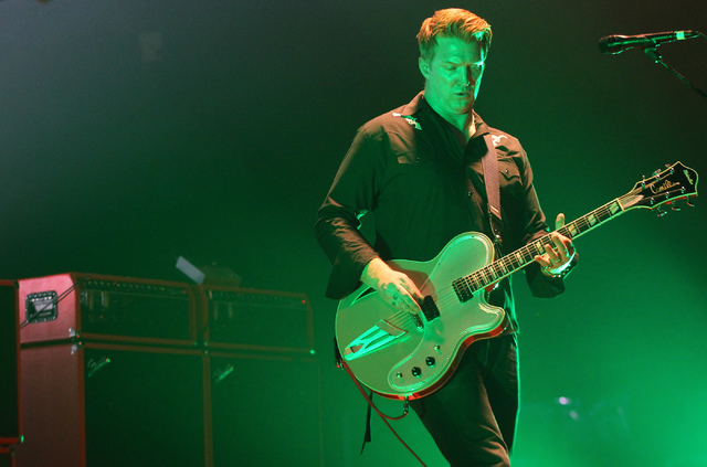 Josh Homme of Queens of the Stone Age performs with the band at The Joint at the Hard Rock Hotel in Las Vegas on Thursday, Feb. 13, 2014. (Chase Stevens/Las Vegas Review-Journal)