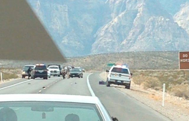 Park rangers attempted to detain a man walking on the road near the Red Rock National Conservation Area on Friday, Feb. 14, 2014. The event escalated and D'Andre Berghardt Jr., 20, was shot after  ...
