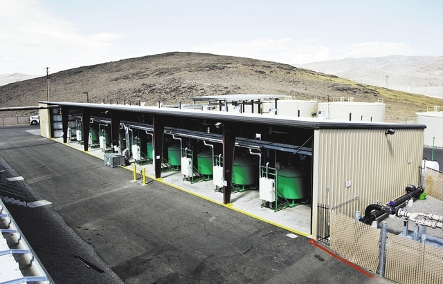 Advance Refining Concepts processor building number one containing 10 ClearRefining® Processors with large diesel and GDiesel® storage tanks in the background at Tahoe Reno Industrial Ce ...