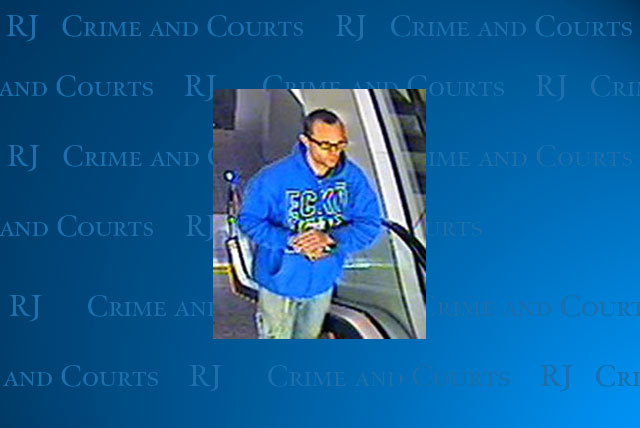 Las Vegas police are seeking this suspect in connection with a home robbery and stolen van on Feb. 1. (Courtesy/Las Vegas police)