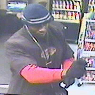 Las Vegas police are seeking this suspect in a robbery on Feb. 4 at a business in the 3500 block of Maryland Parkway. (Courtesy/Las Vegas police)