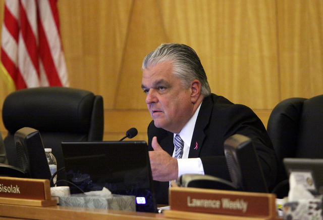 County Commissioner Steve Sisolak said Monday he will not run for Governor. (JESSICA EBELHAR/LAS VEGAS REVIEW-JOURNAL FILE)