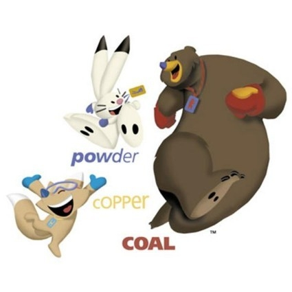 The 2002 Salt Lake City Olympic mascots were a snowshoe hare, a coyote and a black bear. The names Powder, Copper and Coal were an allusion to Utah's natural resources, its snow and its land. (Int ...