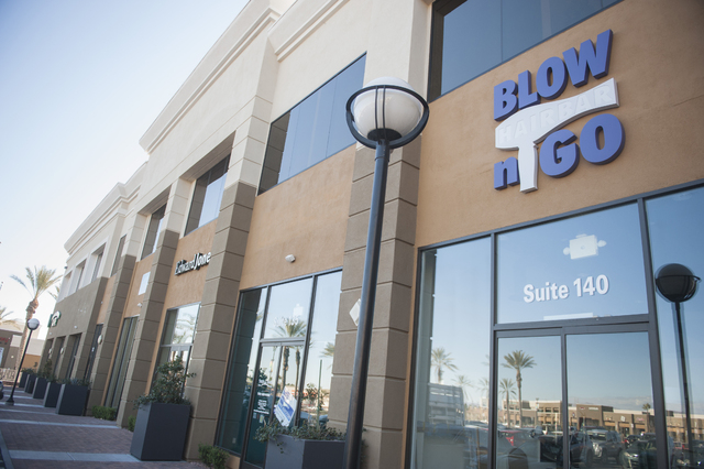 Blow N' Go Hairbar recently opened in Village Square, along with Nevada Community Management and Sylvan Learning Center. (Jacob Kepler/View)