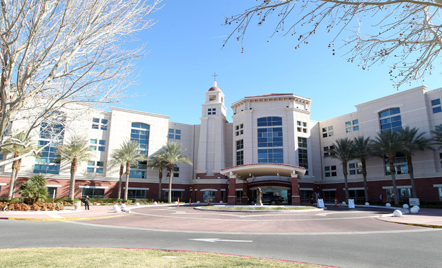 St. Rose Dominican Hospital-Siena Campus is one of the valley hospitals looking for a solution to the growing number of mentally ill patients overwhelming emergency rooms. (Jerry Henkel/Las Vegas  ...