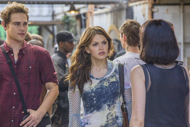 "Grey Damon and Aimee Teegarden appear in a scene from The CW's """"Star-Crossed."" (Skip Bolen/The CW)"