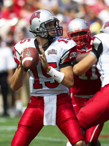 Shane Steichen, shown during his playing days at UNLV, worked for former Rebels coach Mike Sanford at Louisville before starting his pro career in San Diego in 2011. (Special to the Review-Journal)