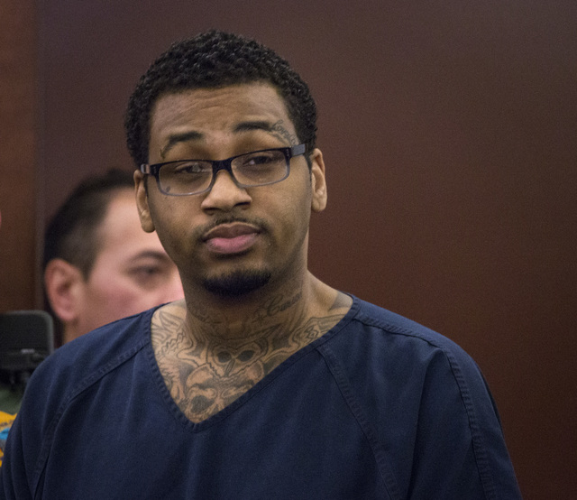 Ammar Harris, suspect in a 2013 shooting on the Las Vegas Strip, was sentenced to a prison Wednesday for raping and robbing a woman in June 2010. (Jeff Scheid/Las Vegas Review-Journal)