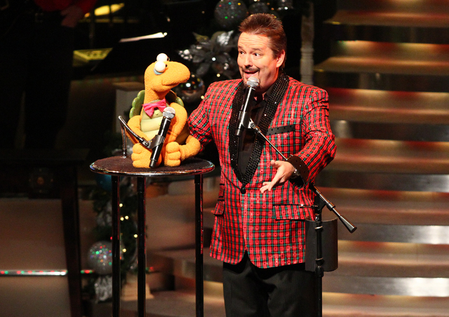 Ventriloquist Terry Fator performs at the Terry Fator Theater at The Mirage. (Chase Stevens/Las Vegas Review-Journal File)