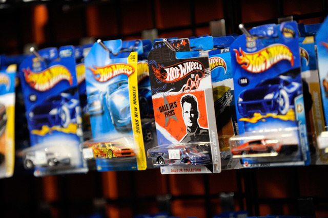 Substitutional wish fulfillment — having a toy car fill in as an obtainable version of an unaffordable dream car — may be part of the appeal of Hot Wheels. (David Becker/Las Vegas Review-Journal)
