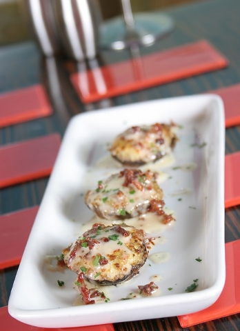 Stuffed with crab, spinach and cheese, these mushrooms are served at Trevi in the Forum Shops at Caesars. (Courtesy)
