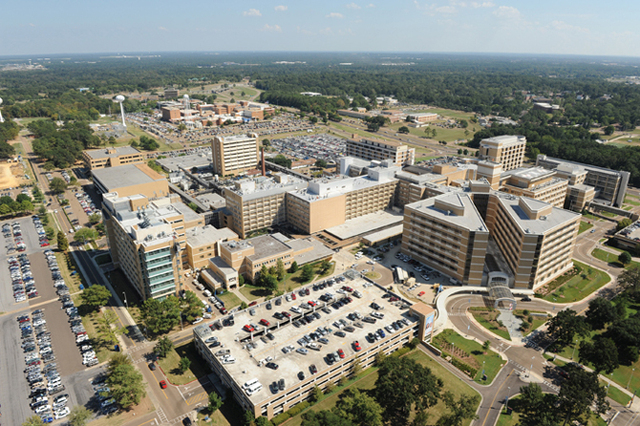 An aerial shot of the University of Mississippi Medical Center. 1,000 graves were recently discovered on campus. (UMMC)
