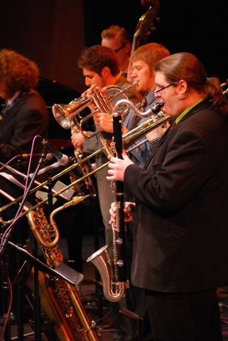 UNLV Jazz Ensemble musicians will perform at the Clark County Library Wednesday. (Courtesy photo by Debbie Loeb.)