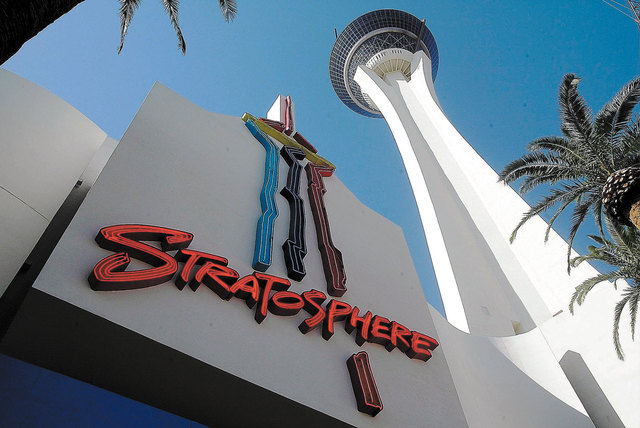 Las Vegas police are investigating a possible suicide near the Stratosphere. (Las Vegas Review-Journal file)