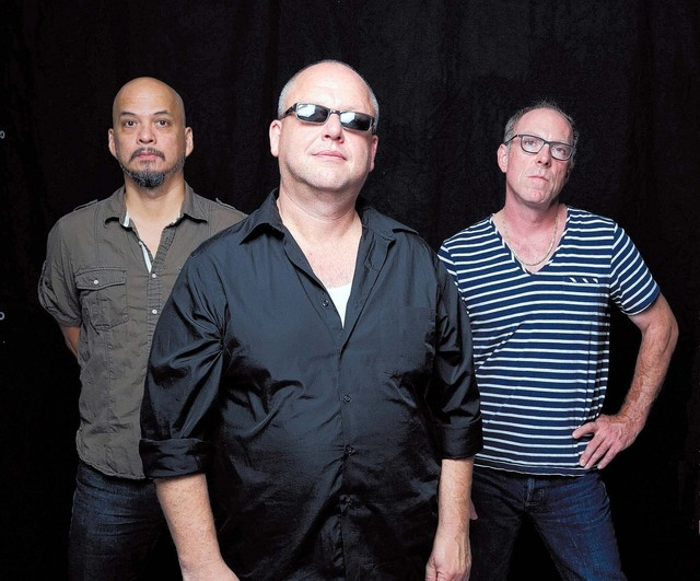 The Pixies: From left, Joey Santiago, Black Francis and David Lovering. (Courtesy, Michael Halsband)