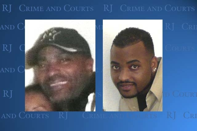 Jerry Pough Sr., left, and Jerry Pough Jr., who was killed in 2009. (Files, Las Vegas Review-Journal)