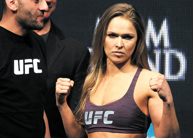 UFC star Ronda Rousey has become a hot commodity in Hollywood. (Jason Bean/Las Vegas Review-Journal)