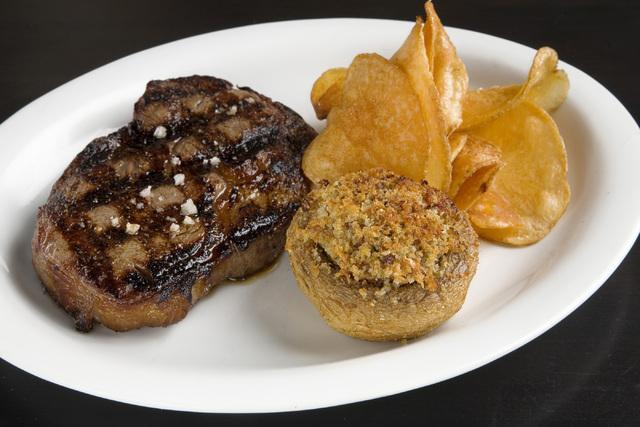 The Mushroom Rockefeller plate as served at the Echo & Rig restaurant at Tivoli Village in W. Las Vegas on Friday, Jan. 31, 2014. (Jeferson Applegate/Las Vegas Review-Journal)