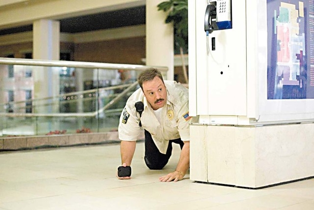 """Kevin James as """"Paul Blart"""" in Columbia Pictures' comedy, """"Paul Blart: Mall Cop."""" Sony Pictures is requesting $4.2 million in tax credits to film """"Mall Cop: Blart 2"""" in Las Vegas. (Courtesy, S ..."""