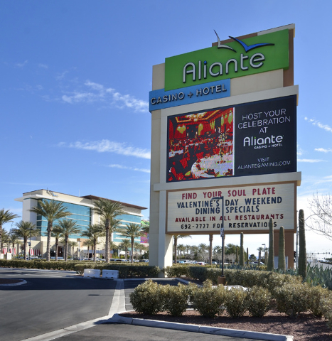 The exterior of the Aliante hotel-casino is shown at 7300 N. Aliante Parkway in North Las Vegas on Wednesday, Feb. 5, 2014. (Bill Hughes/Las Vegas Review-Journal)