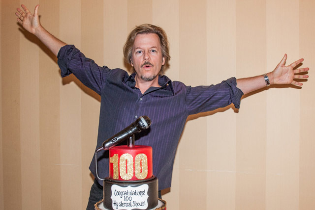 David Spade celebrated his 100th show at The Venetian in July. The comedian performs this Friday and Saturday at The Venetian. (Courtesy/Tom Donahue)