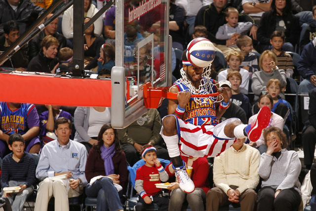 "Anthony ""Ant"" Atkinson was the first player picked in the Harlem Globetrotters' first draft in 2007. (Courtesy/Jeffrey Phelps, Harlem Globtrotters)"