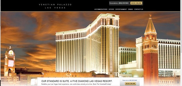 Las Vegas Corp., owners of the Venetian and Palazzo on the Strip, has restored its websites about a week after they were apparently taken over by hackers. Shown here is the homepage at www.venetia ...