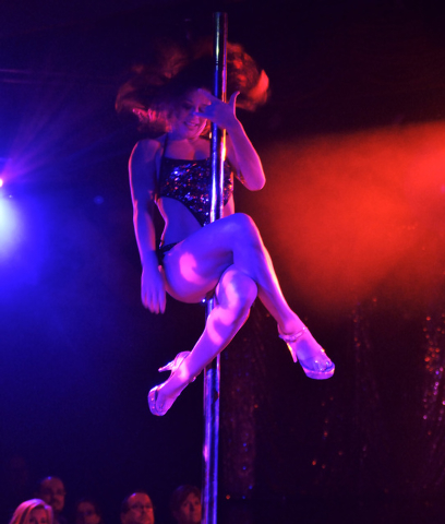 "Natalie Walstead performs during ""X Burlesque"" in the X Showroom at the Flamingo hotel-casino at 3555 Las Vegas Blvd., South, in Las Vegas on Thursday, Feb. 13, 2014. (Bill Hughes/Las Ve ..."