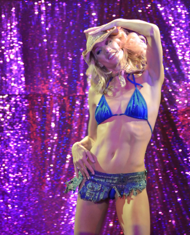 "Stephanie Smith performs during ""X Burlesque"" in the X Showroom at the Flamingo hotel-casino at 3555 Las Vegas Blvd., South, in Las Vegas on Thursday, Feb. 13, 2014. (Bill Hughes/Las Veg ..."