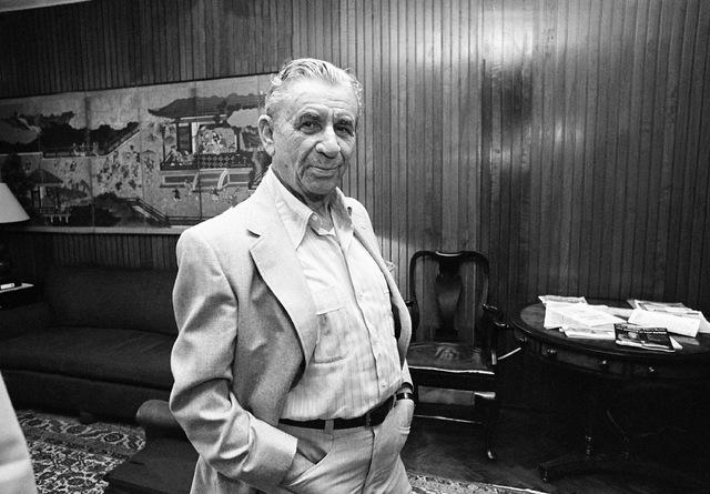 Reputed Mafia financier Meyer Lansky is shown in January 1982 in a Miami attorney's office. L ...