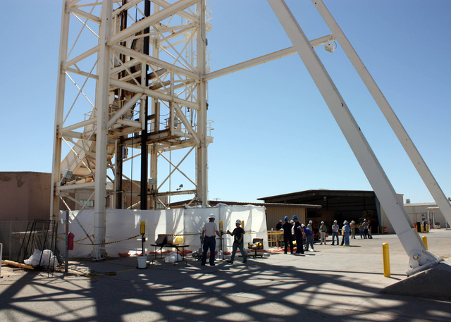Specially trained workers make unmanned tests inside a nuclear waste dump in Carlsbad, N.M., on Friday. They are finalizing plans to enter the nation's only underground nuclear waste dump after tw ...