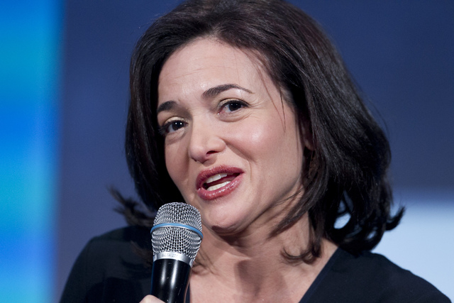 FILE - This Sept. 24, 2013 file photo shows Sheryl Sandberg, the Chief Operating Officer of Facebook, speaking at the Clinton Global Initiative in New York. Sandberg and the Girls Scouts recently  ...