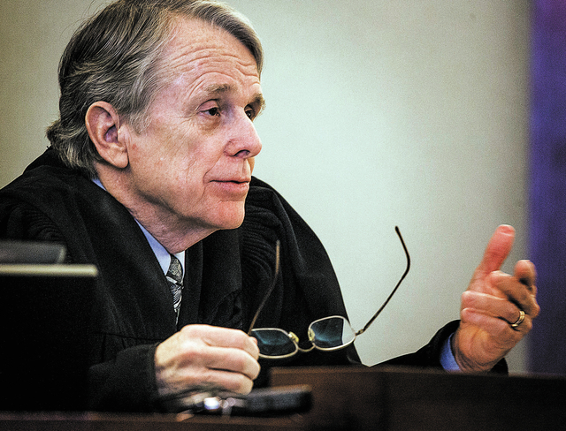 District Court Judge Ken Cory during the puppy restraining order hearing at Regional Justice Center, Wednesday, March 19, 2014. Cory rebuked lawyers for wasting taxpayers dollars on who would have ...
