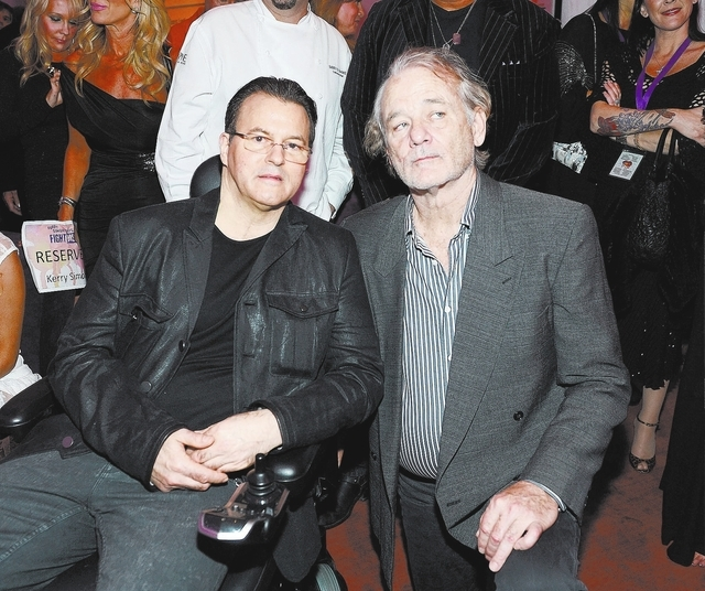 "Kerry Simon and Bill Murray during the Kerry Simon ""Simon Says Fight MSA"" benefit concert at the Keep Memory Alive Center in Las Vegas on February 27, 2014 in Las Vegas, Nevada.  (Photo by Denise  ..."