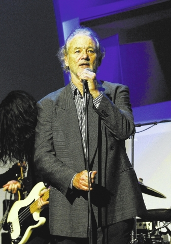 "Bill Murray hosts the Kerry Simon ""Simon Says Fight MSA"" benefit concert at the Keep Memory Alive Center in Las Vegas on February 27, 2014 in Las Vegas, Nevada.  (Photo by Denise Truscello/WireImage)"