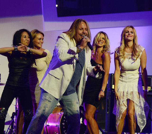 "Vince Neil performs during the Kerry Simon ""Simon Says Fight MSA"" benefit concert at the Keep Memory Alive Center in Las Vegas on February 27, 2014 in Las Vegas, Nevada.  (Photo by Denise Truscell ..."