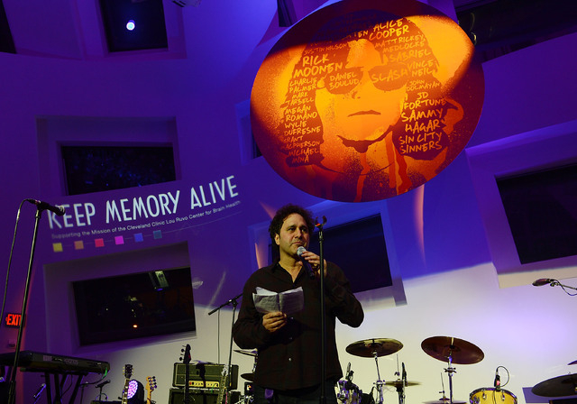"George Maloof speaks during the Kerry Simon ""Simon Says Fight MSA"" benefit concert at The Keep Memory Alive Center in Las Vegas on February 27, 2014 in Las Vegas, Nevada.  (Photo by Denise Truscel ..."