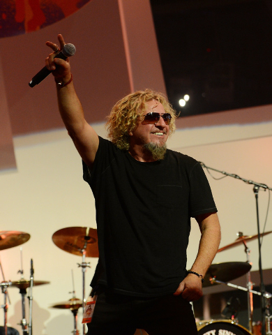 "Sammy Hagar performs during the Kerry Simon ""Simon Says Fight MSA"" benefit concert at The Keep Memory Alive Center in Las Vegas on February 27, 2014 in Las Vegas, Nevada.  (Photo by Denise Truscel ..."