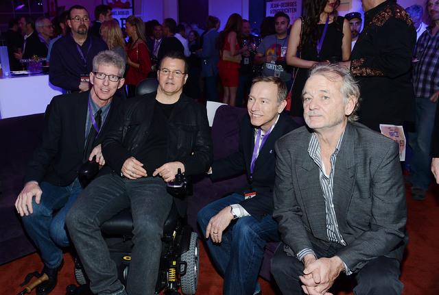 "Kerry Simon (2nd from L) and Bill Murray (R)""Simon Says Fight MSA"" benefit concert at The Keep Memory Alive Center in Las Vegas on February 27, 2014 in Las Vegas, Nevada.  (Photo by Denise Truscel ..."