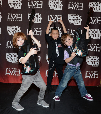 Ryder Aldrich and Jacob Freeman make a grand entrance at the LVH. (Photo by Denise Truscello/WireImage)