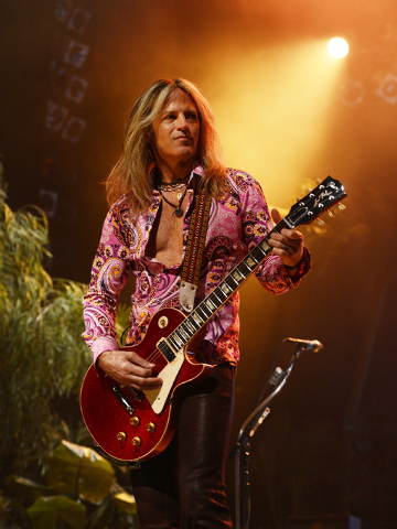 "Doug Aldrich performs in ""Raiding the Rock Vault."" (Photo by Denise Truscello/WireImage)"